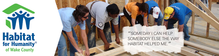Banner from Habitat for Humanity